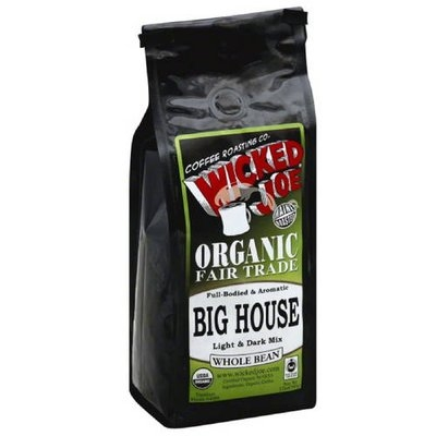 Wicked Joe Coffee Wicked Joe Big House Light & Dark Mix Whole Bean Coffee, 12 oz, (Pack of 6)