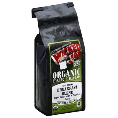 Wicked Joe Coffee Wicked Joe Breakfast Blend Light Roast with a Touch of Dark Whole Bean Coffee, 12 oz, (Pack of 6)