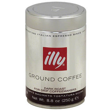 Illycaffe Illy Dark Roast Ground Coffee, 8.8 oz, (Pack of 6)