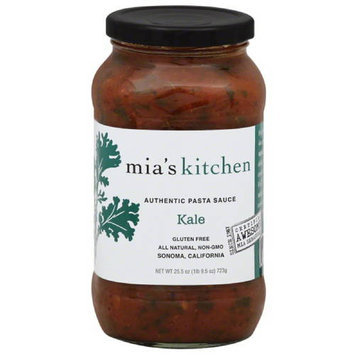 Mias Kitchen Mia's Kitchen Kale Authentic Pasta Sauce, 25.5 oz, (Pack of 6)