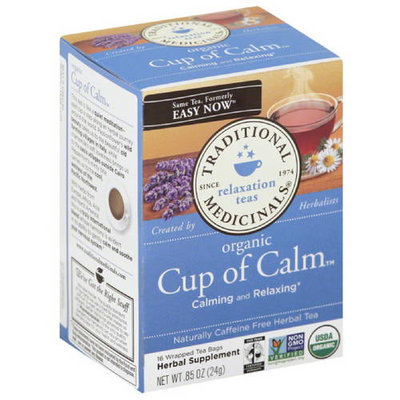 Traditional Medicinals Organic Cup of Calm Tea, 0.85 oz, (Pack of 6)