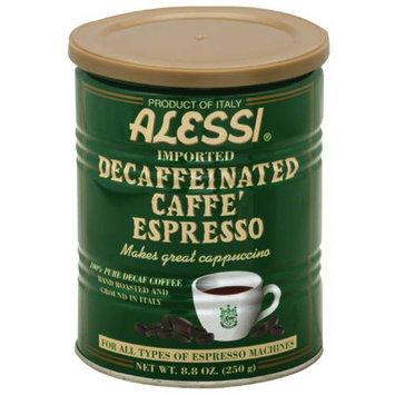 Alessi Hand Roasted Decaffeinated Caffe Espresso Ground Coffee, 8.80 oz, (Pack of 6)