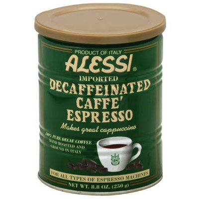 Alessi Hand Roasted Decaffeinated Caffe Espresso Ground Coffee, 8.80 oz, (Pack of 6)