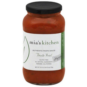 Mias Kitchen Mia's Kitchen Tomato Basil Authentic Pasta Sauce, 25.5 oz, (Pack of 6)