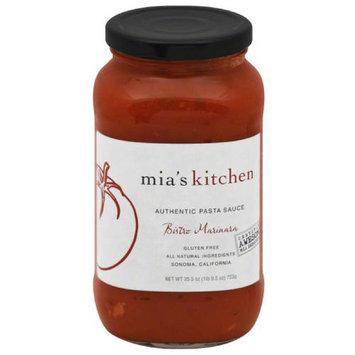 Mias Kitchen Mia's Kitchen Bistro Marinara Authentic Pasta Sauce, 25.5 oz, (Pack of 6)