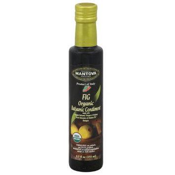 Fratelli Mantova Fig Organic Balsamic Vinegar, 8.5 fl oz, (Pack of 6)