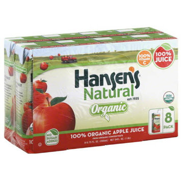Hansen's Natural Organic Apple Juice, 54 fl oz, (Pack of 4)