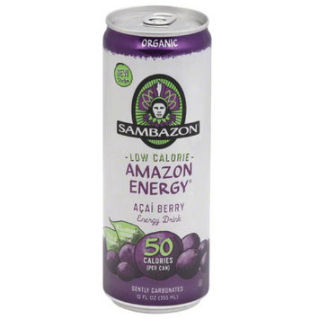 Sambazon Samazon Amazon Energy Acai Berry Energy Drink, 12 fl oz, (Pack of 24)
