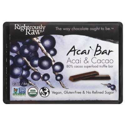 Righteously Raw Acai & Cacao Acai Bar, 2.3 oz, (Pack of 12)