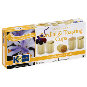 Kane Candy White Chocolate Cordial & Toasting Cups, 2.47 oz, (Pack of 12)