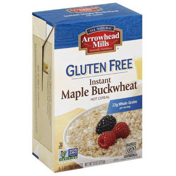 Arrowhead Mills Maple Buckwheat Instant Gluten Free Hot Cereal, 8 oz, (Pack of 12)