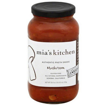 Mias Kitchen Mia's Kitchen Mushroom Pasta Sauce, 25.5 oz, (Pack of 6)