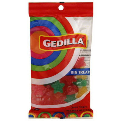 Gedilla Big Treat Sour Stars Candy, 4 oz, (Pack of 24)