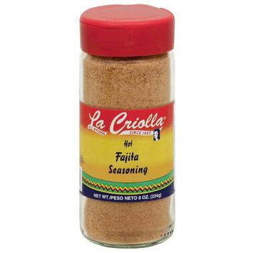La Criolla Hot Fajita Seasoning, 8 oz, (Pack of 12)