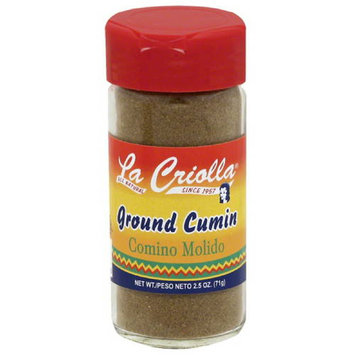 La Criolla Ground Cumin, 2.5 oz, (Pack of 12)