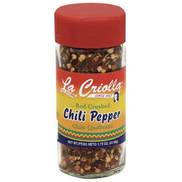 La Criolla Red Crushed Chili Pepper, 1.75 oz, (Pack of 12)