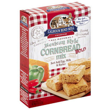 Calhoun Bend Mill Premium Bold Mexican Style Cornbread Mix, 8 oz, (Pack of 6)
