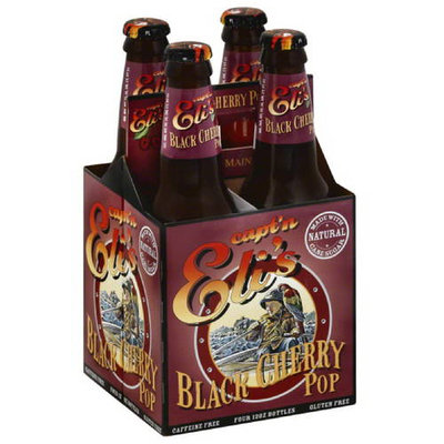 Captain E Capt'n Eli's Black Cherry Pop, 12 oz, 24 count, (Pack of 6)