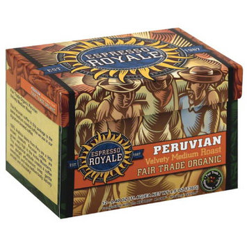 Espresso Royale Peruvian Velvety Medium Roast Coffee K-Cups, 4.8 oz, (Pack of 6)