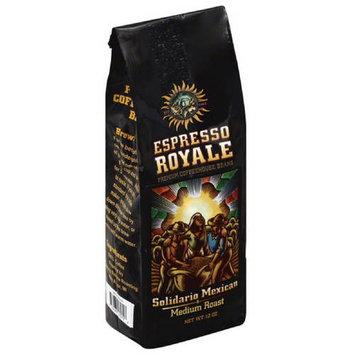Espresso Royale Solidario Mexican Medium Roast Coffee Beans, 12 oz, (Pack of 6)