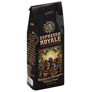 Espresso Royale Solidario Ethiopian Medium Roast Coffee Beans, 12 oz, (Pack of 6)