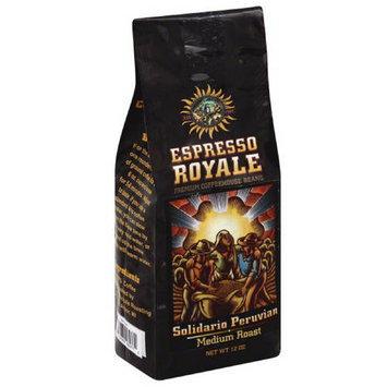 Espresso Royale Solidario Peruvian Medium Roast Coffee Beans, 12 oz, (Pack of 6)