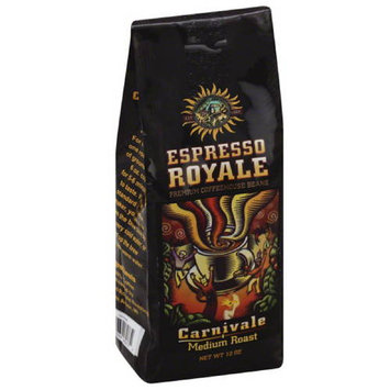 Espresso Royale Carnivale Medium Roast Coffee Beans, 12 oz, (Pack of 6)