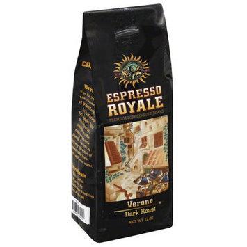 Espresso Royale Verona Dark Roast Coffee Beans, 12 oz, (Pack of 6)