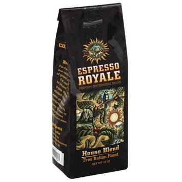Espresso Royale Decaf House Blend True Italian Roast Coffee Beans, 12 oz, (Pack of 6)