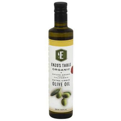 Enzo Olive Oil Co Enzo's Table Organic California Extra Virgin Olive Oil, 16.9 fl oz, (Pack of 12)