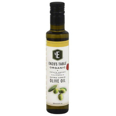 Enzo Olive Oil Co Enzo's Table Organic Extra Virgin Olive Oil, 8.5 oz, (Pack of 12)