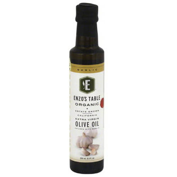 Enzo Olive Oil Co Enzo's Table Organic Garlic Extra Virgin Olive Oil, 8.5 oz, (Pack of 12)