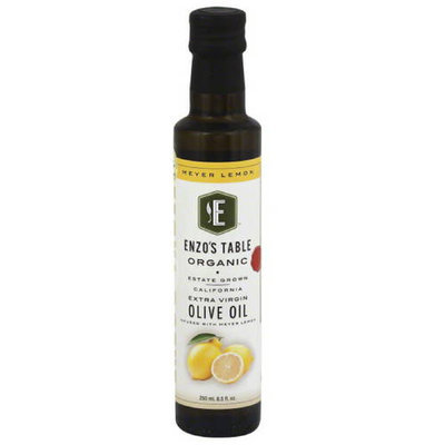 Enzo Olive Oil Co Enzo's Table Organic Meyer Lemon Extra Virgin Olive Oil, 8.5 oz, (Pack of 12)