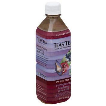 Teas Tea Teas' Tea Sweetened Pomegranate Blueberry Green Tea, 16.9 fl oz, (Pack of 12)