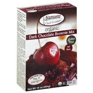 Namaste Foods Namaste Organic Dark Chocolate Brownie Mix, 16 oz, (Pack of 6)