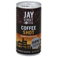 Jay Street Coffee Unsweetened Black Coffee Shot, 6.4 fl oz, (Pack of 20)