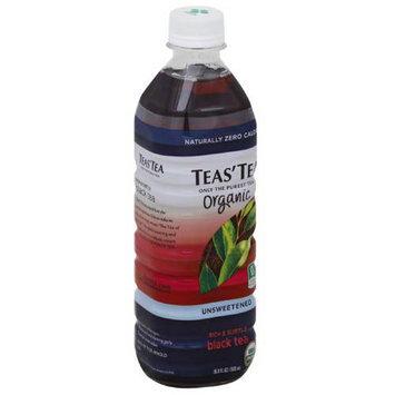 Teas Tea Teas' Tea Organic Unsweetened Rich & Subtle Black Tea, 16.9 fl oz, (Pack of 12)