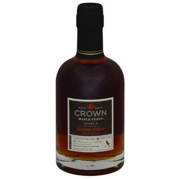 Crown Maple Syrup Amber Color Maple Syrup, 12.7 fl oz, (Pack of 6)