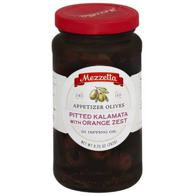 Mezzetta Pitted Kalamata with Orange Zest Appetizer Olives in Dipping Oil, 9.25 oz, (Pack of 6)