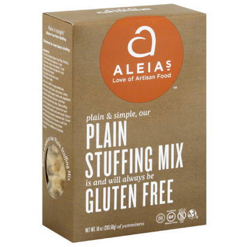 Aleia's Aleias Gluten Free Plain Stuffing Mix, 10 oz, (Pack of 6)