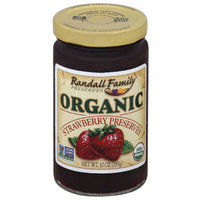 Randall Family Preserves Organic Strawberry Preserves, 10 oz, (Pack of 6)