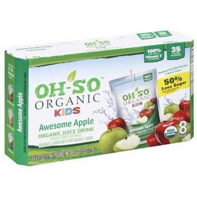 Oh-So Organic Kids Awesome Apple Juice Drink, 48 fl oz, (Pack of 5)