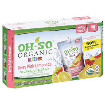 Os So Organic Kids Oh-So Organic Kids Berry Pink Lemonade Juice Drink, 48 fl oz, (Pack of 5)