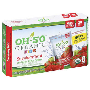 OH-SO Organic Kids Strawberry Twist Organic Juice Drink from Concentrate, 48 fl oz, (Pack of 5)