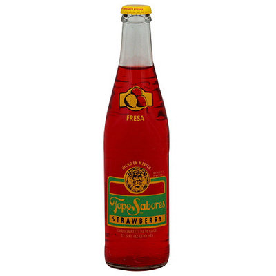Topo Chico Topo Sabores Strawberry Soda, 12 fl oz (Pack of 24)