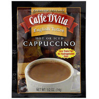 Caffe D'Vita Premium Instant English Toffee Cappuccino, 0.5 oz (Pack of 24)
