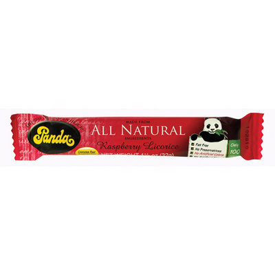 Panda Raspberry Licorice Bar, 1.1 oz (Pack of 36)