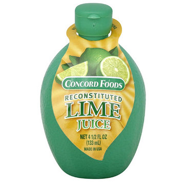 Concord Foods Reconstituted Lime Juice, 4.5 oz (Pack of 24)