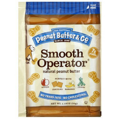 Peanut Butter & Co. Smooth Operator Peanut Butter Squeeze Pack, 1.15 oz. (Pack of 20)