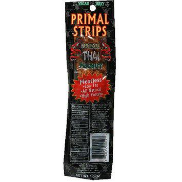 Primal Strips Meatless Vegan Thai Peanut Jerky, 1.0 oz (Pack of 24)
